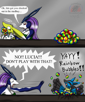 Undivided: Rainbow Bubbles by Snowfyre