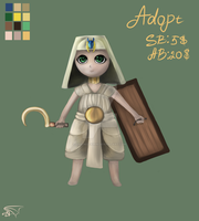 Adopt auction: SOLDIER OF EGYPT [OPEN] by Fire-Red-Kirin