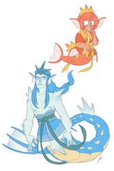 Pokemermaid 12: Magikarp and Gyarados by Lisosa