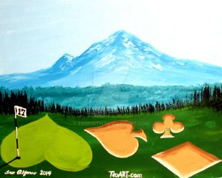 MT RAINIER GOLF COURSE POKER SUITS by TEOFAITH