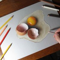 My drawing of a broken egg by marcellobarenghi