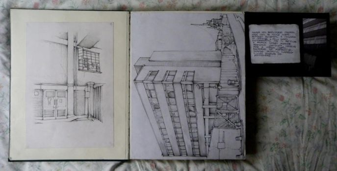 SB 2012 - 5 - Urban studies pencil by SCIFIJACKRABBIT