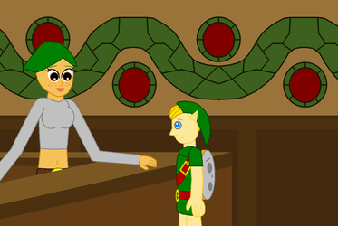 Link and Receptionist Scene 3 by Eli-J-Brony