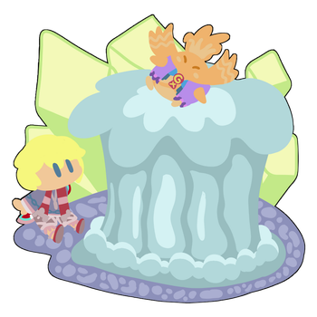A Snowy Hot Spring by Mariopartylover10