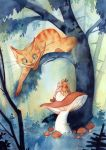 Alice and the Cheschire cat by Rozenng