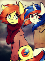 Firefox and Safari by SugarberryArt