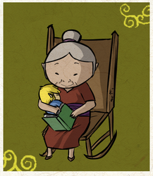 Fairytales for her grandbaby by Icy-Snowflakes