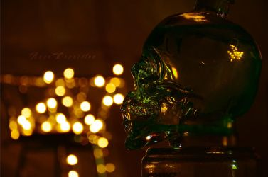 Lighted Up Skull by SweetHeartBabie