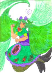 Midori Sanada's Double Hair Whip by Winter-Colorful