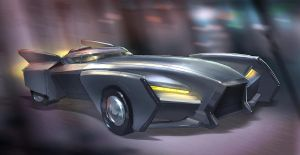 The Batmobile by MeckanicalMind