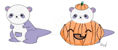 Pandaroo as a Pumpkin by Daryl-the-cartoonist