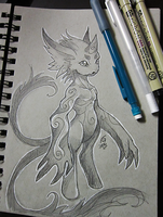 Plio Sketch- Inktober Day 1 by KeeperofAges