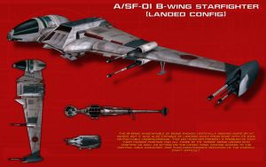 A-SF-01 B-Wing starfighter ortho [2][New] by unusualsuspex