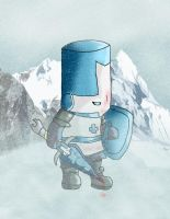 Castle Crashers Blue Knight by lord-zeta