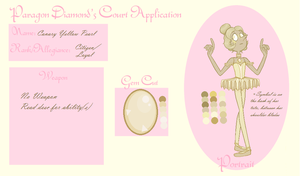- Paragon Diamond's Court App: Canary Yellow Pearl by ArticulateDapper