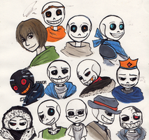 A Beach of  Sans by VanGold