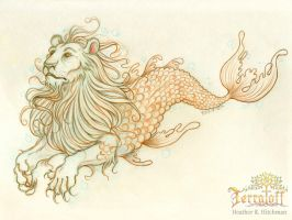 Mermay 2017 #2 The Mighty Merlion by HeatherHitchman