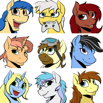 Pony Faces! by Acesential