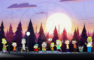 All Cartoon Characters In Gravity Fall Style by K9X-Toons