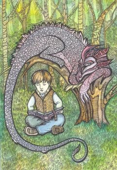 The dragon and his little friend by Wilentsia