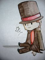 Professor Layton Chibi by lexiepotter
