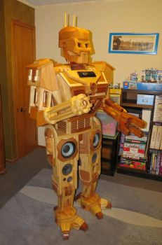 Wooden Robot Stereo System by StevesWoodenToys