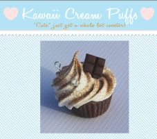 Chocolate Dream Cupcake Charm by kawaiicreampuffs