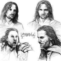 Aragorn sketches by Manweri