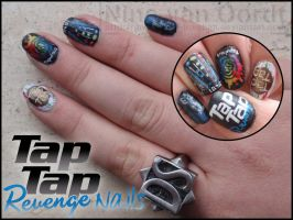 Tap Tap revenge nails by Ninails