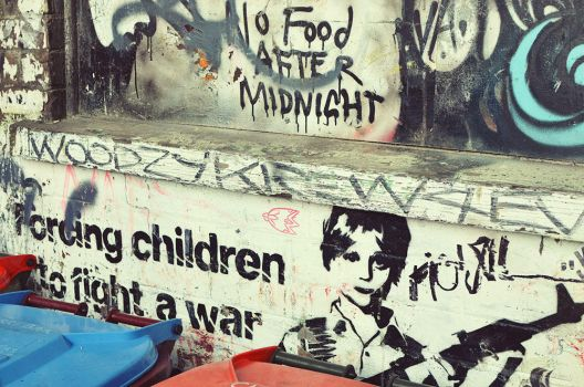 Forcing children to fight a war. by synthetic-order