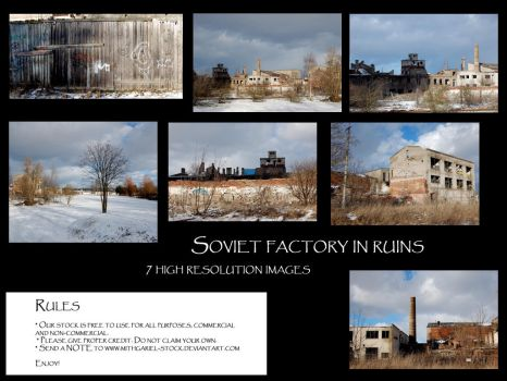 Soviet factory in ruins by Mithgariel-stock