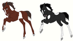 Paint Foal Adopts - (closed) by mkayswritings
