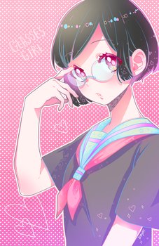 Glasses Girl by BOMHAT