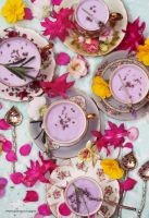 White Chocolate Lavender Mousse by theresahelmer