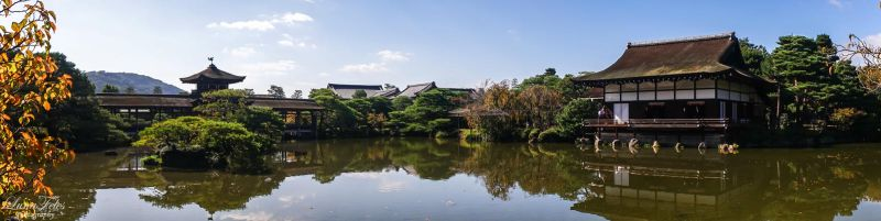 Garden of the Heian Shrine - Panorama by LunaFeles