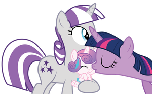 Twilight kisses her niece by CloudyGlow