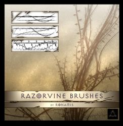 Razorvine brushes by Ronamis by Ronamis
