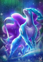 SUICUNE AND THE NORTHERN LIGHTS by CHOBI-PHO