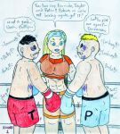 Boxing Lindsay vs Terrance and Phillip by Jose-Ramiro