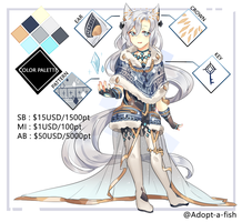 [CLOSED] Kemonomimi Ice Mage by Adopt-A-Fish