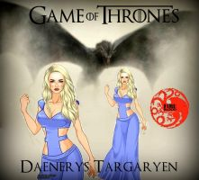 Daenerys Targaryen: Mother of Dragons by LadyRaw90