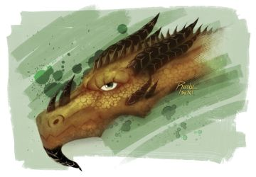 Dragon head by alexrecoba