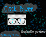 Reloj Blue skin para xwidget by Dianeyeditions
