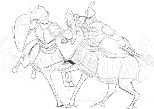 WIP: Dueling Centaurs by A3DNazRigar