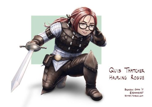 C: Quis Thatcher, Halfling Rogue by bchart