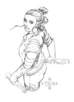 Rey Sketch by bonesdeviant