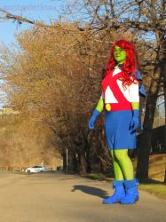 Cosplay - Miss Martian by ScrtSolstice