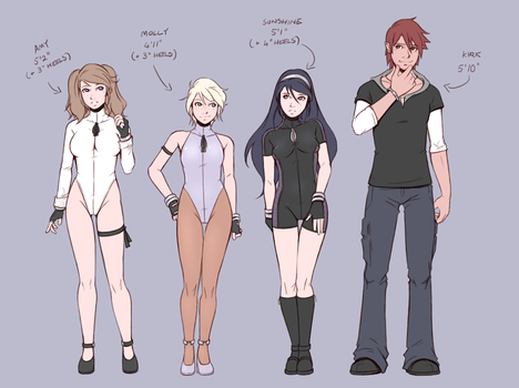 Concept Art - Height Comparison by Teh-Dave