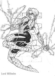 Ashley Barton Spider Woman by LordWilhelm