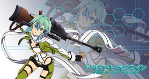 Anime Wallpaper Fan-Made: SAO II- Sinon by FiReptile